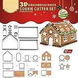 HKFV Edelstahl Kuchen Keks Ausstecher Form DIY Backen Gebäckwerkzeug Weihnachten Lebkuchenhaus Schimmel mold Cookie