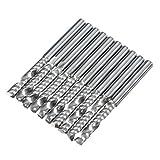 40mm Einzel Flöte Spirale Fräser Harte Legierung-Fräser CNC Packung mit 10 Stück