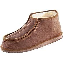 Kaiser Naturfellprodukte 744100144 - Zapatillas con velcro (número 44), color marrón