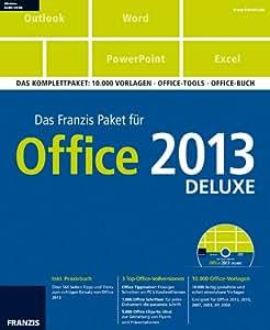 franzis paket office 2013 deluxe das komplettpaket vorlagen office tools office buch. Black Bedroom Furniture Sets. Home Design Ideas