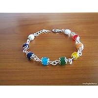 Bracciale con perline 7 chakra yoga handmade