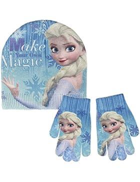 Disney Frozen 2200-2461 Set 2 Piezas Brillante, Gorro Más Guantes, Polyester, Niña, Multicolor