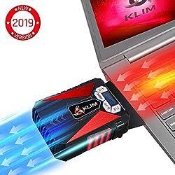 KLIM Cool Universaler Kühler für Spielekonsole Laptop PC - Hochleistungslüfter für Schnelle Kühlung - USB Warmluft-Abzug Rot[ Neue 2019 Version ]