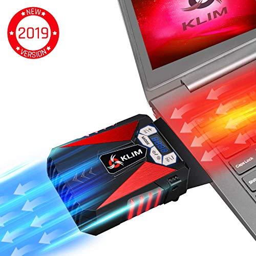KLIM Cool Refroidisseur - PC Ventilo Portable Gamer - Ventilateur Haute Performance Pour Refroidissement Rapide - Extracteur d'Air Chaud USB Rouge