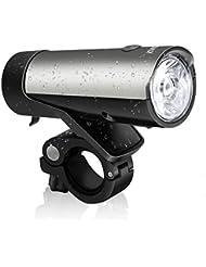 LED Fahrradlicht Set StVZO zugelassen KingTop 50 Lux LED Fahrradlampe Rücklicht USB Wiederaufladbar