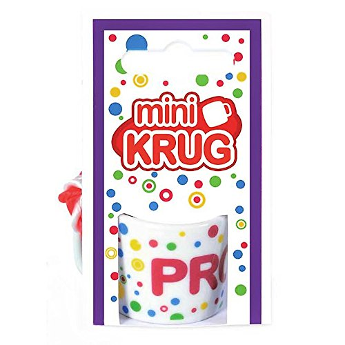 KarnevalsTeufel Mini-Krug Prost, Schnapsglas, Umhänge-Krug, bunt mit Schriftzug, Party (Bunte Krug)