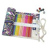niceEshop Handgefertigt Leinwand Stifterolle für 72 Farbstift Bleistift