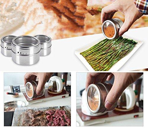 Bazaar Kräuter Pfeffer Gewürze Shaker Pot de Salz De Zucker Edelstahl Zahnstocher Flasche Speicher für Grill