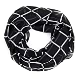 MANUMAR Loop-Schal für Damen | Hals-Tuch shwarz weiß mit Karo-Motiv als perfektes Herbst Winter Accessoire | Schlauchschal | Damen-Schal | Rundschal | Geschenkidee für Frauen und Mädchen