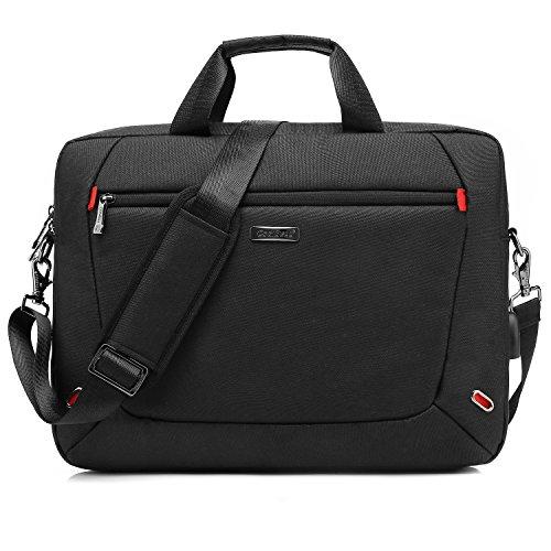 CoolBell 17.3 Inch Laptoptasche Messenger Bag Aktentasche Handtasche Herren Umhängetasche Oxford Nylon Schultertasche Business Briefcase Laptop Tasche für 17-17,3 Zoll MacBook/Notebook(Schwarz) -