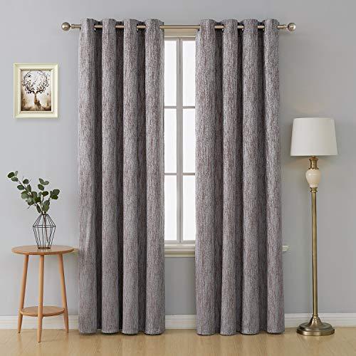 Deconovo tende camera da letto termiche isoalnti con occhielli tende moderne decorative per porta finestre interni 2 pannelli 140x290cm marrone