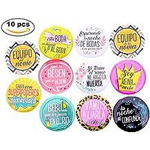 Lote de 11 Chapas Frases Wedding - Chapas Pins para Bodas. Detalles de Bodas,