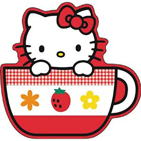 HELLO CIAO KITTY Tea Cup STICKER ADESIVO, Officially Licensed Cartoon / Hello Kitty Artwork, 4