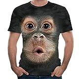 GNYD Chemise T-Shirt à Manches Courtes pour Hommes en 3D avec Impression De...