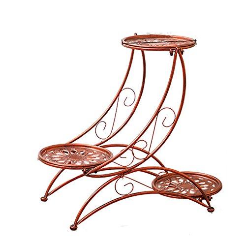 Lan Rack (MYFY Blumenständer/Schmiedeeisen/Multi-Layer/Balkon/Boden/Wohnzimmer/Indoor/Blumentopf Rack/Grün Luo LAN LAN Rack/Bonsai/Stand Flower Stand (Color : Red Copper))