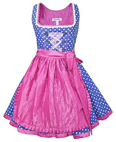 Mondkini Petticoat Dirndl Lollipop - Blau Pink 50 cm - Gr. 40