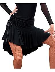 06e5dfba9 Femmes Danse Latine Jupe Ballroom Tango Swing Rumba Cha Cha Robe de Costume  de Danse