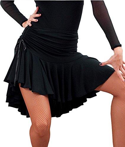Frauen Latin Dance Rock Ballsaal Tango Schaukel Rumba Cha Cha Tanzen Kostüm Kleid (Schwarz, M)