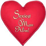 Sexy Kissen in Herzform! Sexiest Man Alive! Originelles Geschenk für Ihn! ca. 40x40cm