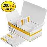 MOSSLIAN Kit Pulizia Lenti e Schermo,200 Pack Salviette di Pulizia, 2 x Panni per Pulire per Bicchieri Telefono Occhiali, Lenti Obiettive
