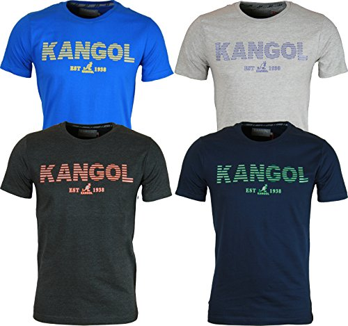 New Kangol Herren T-Shirt Grau - Dunkelgrau