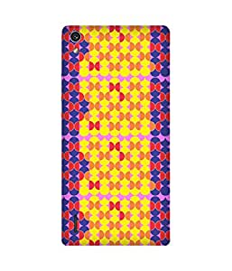Stripes And Elephant Print-86 Huawei Ascend P7 Case