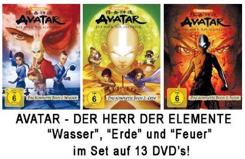 Avatar - Der Herr der Elemente - Das komplette Buch 1-3Set: Wasser, Erde, Feuer (13DVDs) -