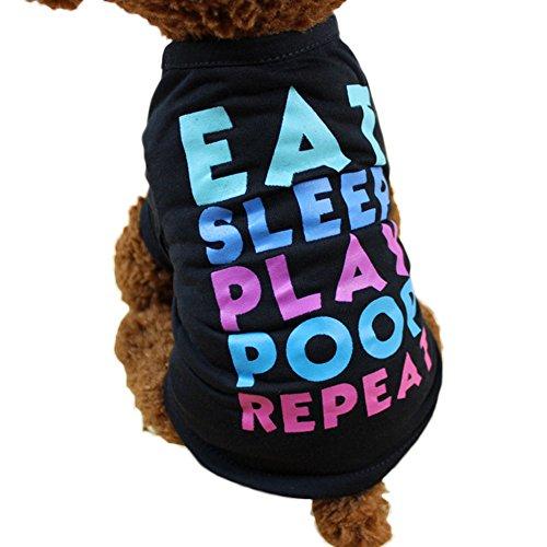 YooGer Haustier Kleidung Chihuahua Kostüm T-Shirt, Puppy Cat Hund Tops Kostüm Bekleidung Sommer für Outdoor Walking, XS
