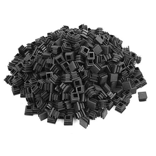 sourcingmap® bouchons carrés obturation extrémité insertions extrémité tuyau tube en plastique noir 16mmx16mm 500pcs