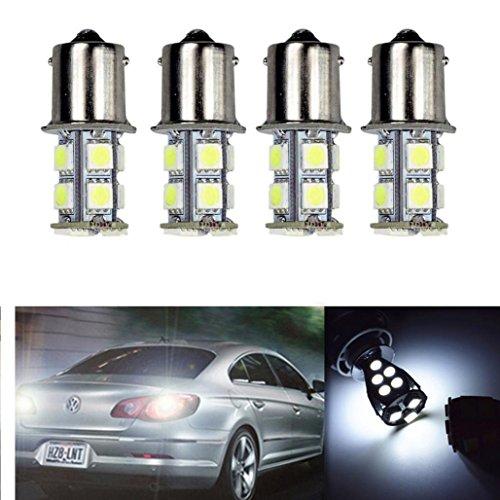 HKFV 10x Weiß 1156 BA15S 13 SMD RV Wohnmobil Anhänger LED Innen Glühbirnen 1073 1141 13SMD 1156 (Led-lampen Rv)