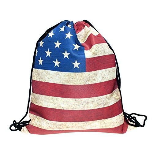 Sacchetto GB Bandiera USA Flag Bandiera stampa Full Print All Over diversi modelli Loomi Loo busagb stati uniti Taglia unica
