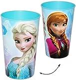 Unbekannt 1 Stück _ Trinkbecher / Becher -  Disney die Eiskönigin - Frozen  - 350 ml - Zahnputzbecher / Malbecher - Küche Essen Kind - völlig unverfroren Prinzessin E..