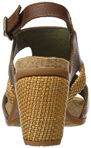 El Naturalista N5031 Soft Grain Mola, Escarpins à Bout Ouvert Femme Marron (Wood)