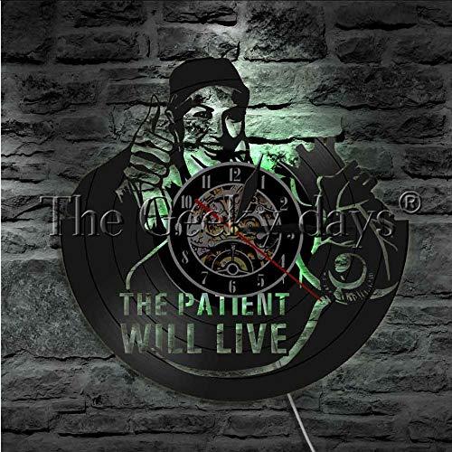 TIANZly Paciente Will Life Letrero De Pared Led Iluminación Disco De Vinilo Reloj Enfermera Cita Arte De Pared Regalo Hospital Luz Nocturna Decoracion De Habitaciones