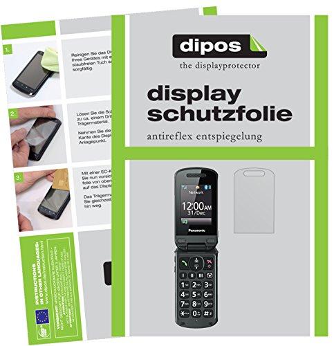 dipos I 2X Schutzfolie matt passend für Panasonic KX-TU329 Folie Displayschutzfolie