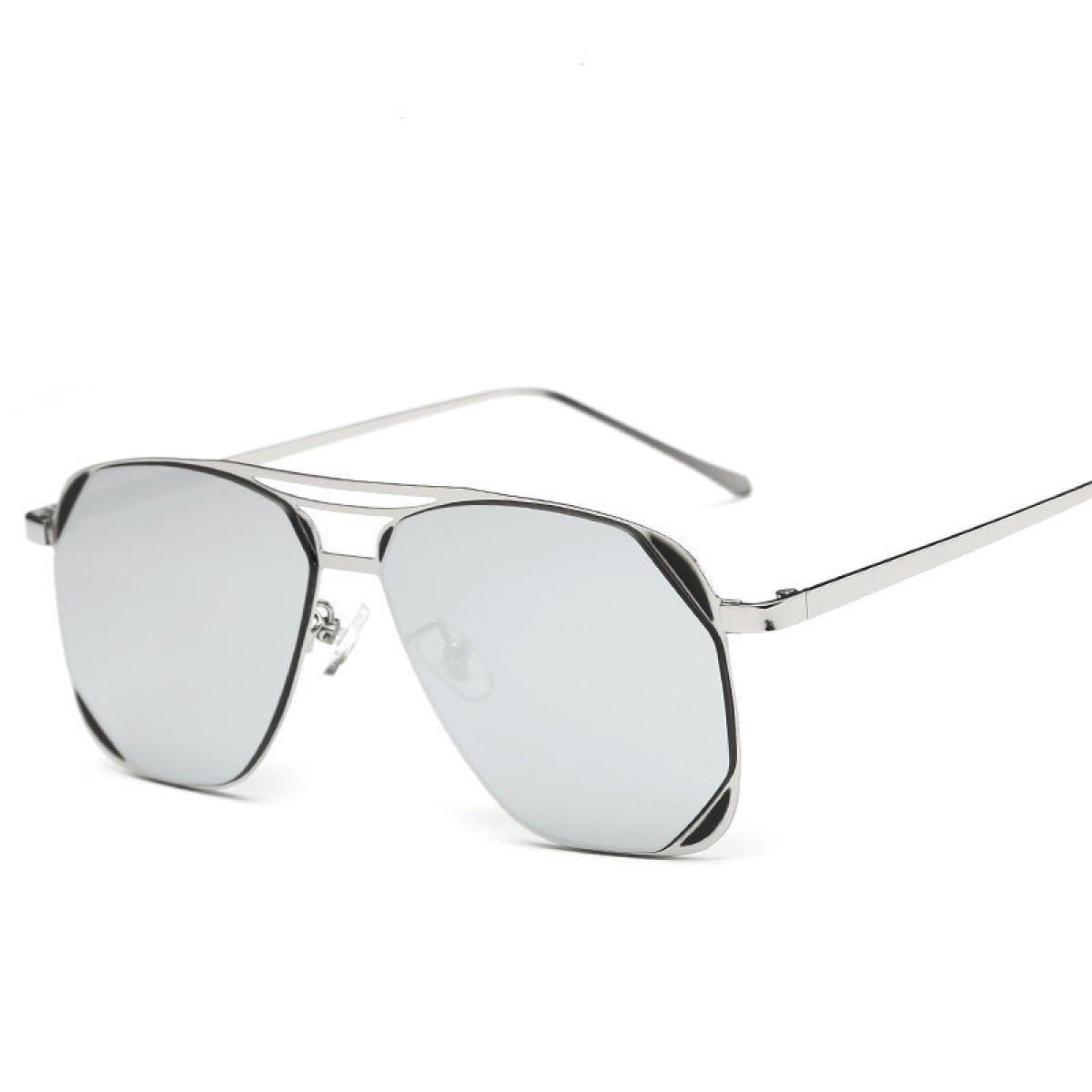 WKAIJC Männer Und Frauen Kasten Mode Individualität Komfort Freizeit Metall Farbe Bunt Sonnenbrillen Sonnenbrillen,D