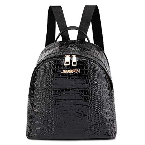 Kleiner Rucksack Mädchen Damen Krokodilmuster Tasche Mode Schultasche Student Rucksack School Bag Umhängetasche Fashion Backpack Shoulder Women Kleine Objekte Kosmetik Kosmetik Buch