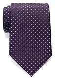Retreez Herren Gewebte Krawatte Kleinen Punkten 8 cm - violett mit weiß punkten