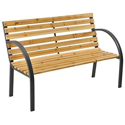 ArtLife 2 Sitzer Gartenbank Modena aus lackiertem Holz und Stahl (Lackiertem Stahl)