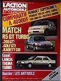 Telecharger Livres ACTION AUTOMOBILE ET TOURISTIQUE L No 287 du 01 03 1985 COMPARATIF A 40 000F RENAULT SUPERCINQ C PEUGEOT 205 XE OPEL CORSA FIAT UNO 45 VW POLO JUNIOR MATCH R5 GT TURBO 205 GTI GOLF GTI KADETT GSI ESSAI LANCIA THEMA TURBO DOSSIER LES ANTIVOLS R5 GT TURBO (PDF,EPUB,MOBI) gratuits en Francaise