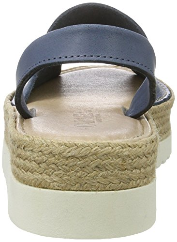 XTI Jeans Nappa Ladies Shoes, Scarpe con Plateau Donna Denim (Jeans)