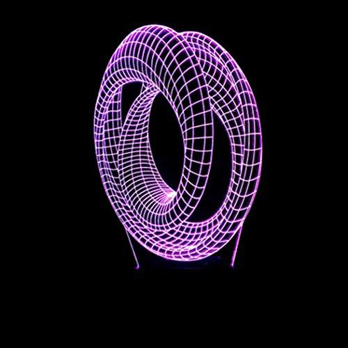YWYU 3D nachtlicht led Illusion Lampe 7 Farben atmosphäre allmählich ändern virtuelle licht tischlampe Fernbedienung Touch Switch USB Powered für Jungen mädchen Toys Urlaub Geschenke