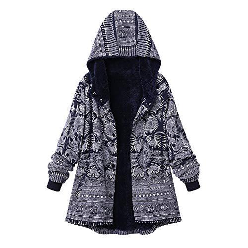 i-uend 2019 Damen Mantel, Strickjacke Damen Langarm Warmer Freizeit Sport Große Größe Dicke Mäntel Reißverschluss Mantel mit Kapuze Pullover