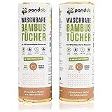 pandoo 100% Bambus Küchenrolle 2er Pack - waschbare Haushaltstücher