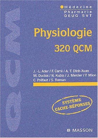 Physiologie, 320 QCM