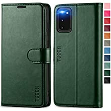 TUCCH Galaxy S20 Wallet Case, Magnetic Shockproof PU Leather Case with[Kickstand][RFID Blocking][TPU Shell] Card Slots Protective Shockproof Flip Cover Compatible with Galaxy S20(6.2), Midnight Green