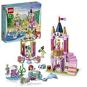 LEGO Disney Princess - Celebración Real de Ariel, Aurora y Tiana, castillo de princesa para construir (41162)