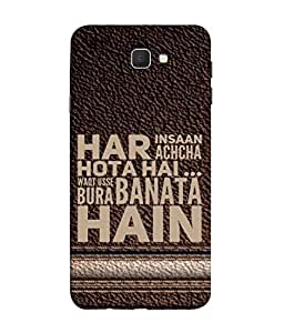 FUSON Designer Back Case Cover for Samsung On7 (2016) New Edition For 2017 :: Samsung Galaxy On 5 (2017) (Waqt Usse Bura Banata Hai Brown Background)