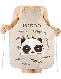 Sanwood Lady Cartoon Veste imperméable Petit tablier de cuisine Taille unique Panda