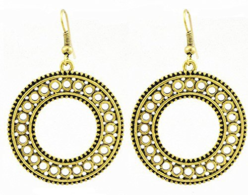 SaySure - Antique Gold&Silver Plated Pendant Earrings Fashion